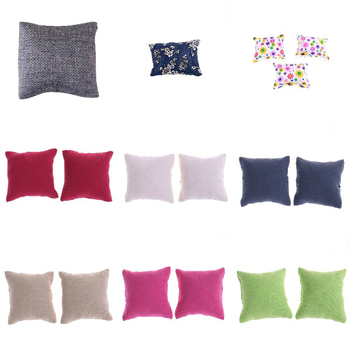 Christmas Gifts Pillow Cushions For Sofa Couch Bed 1/12 Dollhouse Miniature Furniture Toys Without Sofa Chair Baby