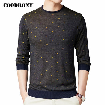 COODRONY Brand Sweater Men Autumn Winter Streetwear Fashion Dot Casual O-Neck Pull Homme Knitwear Cotton Pullover Shirts C1071 coodrony brand wool sweater men streetwear fashion striped pull homme spring autumn casual knitwear v neck pullover shirts c1089