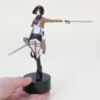 14cm Anime Attack on Titan Mikasa Ackerman Battle Suit Ver Action Figures PVC Model Toy Doll Gifts 1