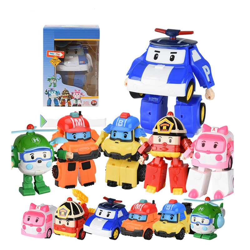 Toy Car Poli For Boy Kids Robot Car Transform Poli Animation Cartoon Toy Vehicle Jouet Brinquedo Birthday Gift For Children
