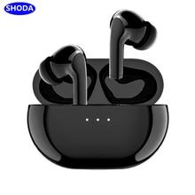 Shoda bluetooth 5.0 fones de ouvido sem fio tws fone com cancelamento ruído para iphone xiaomi huawei