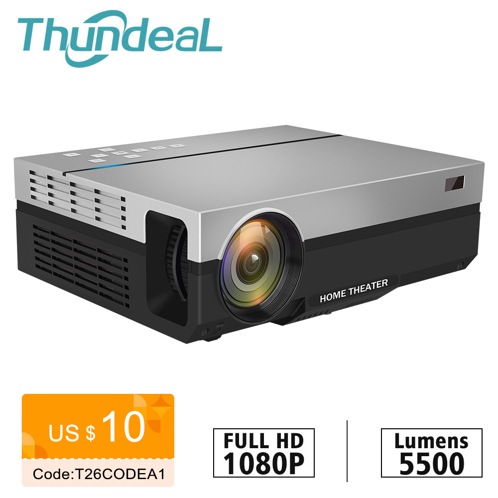 ThundeaL Full HD Projector T26K Native 1080P 5500 Lumens Video LED LCD Home Cinema Theater K19 K20 M19 M20 TV 3D T26L T26 Beamer(China)