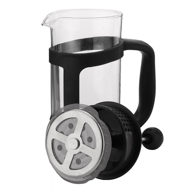 French Press Coffee/Tea Brewer Coffee Pot Coffee Maker Kettle 350ML Stainless Steel Glass Barista Tools Coffee Carafe 3
