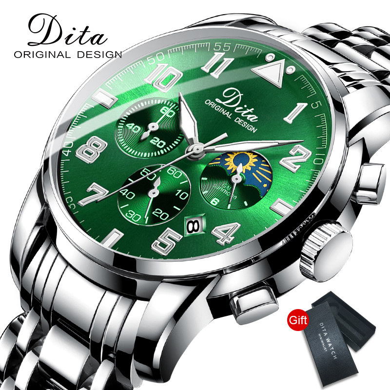 2020 New Fashion Mens Watches With Stainless Steel Top Brand Luxury Sports Chronograph Quartz Watch Men Relogio Masculino