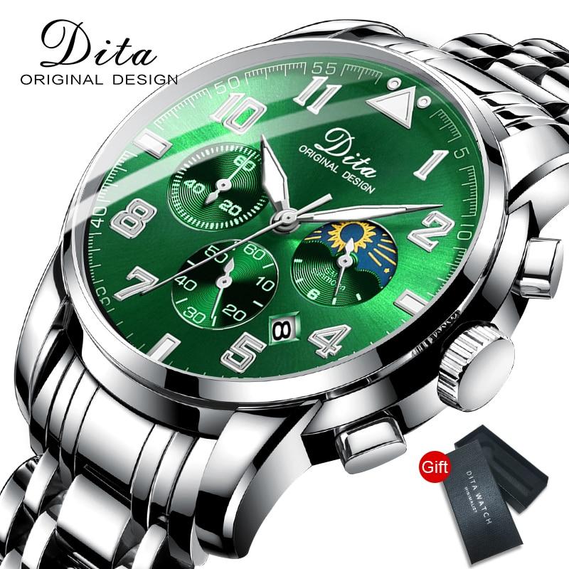 2020 New Top Brand Luxury Fashion Mens Watches Stainless Steel Sports Chronograph Quartz Watch Men Relogio Masculino
