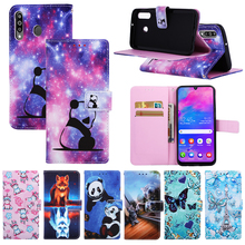 цена на Painted Flower Flip Case for Samsung Galaxy A10 A20 A30 A40 A50 A70 A40S A7 A750 M10 M20 M30 Wallet PU Leather Panda Case 2019