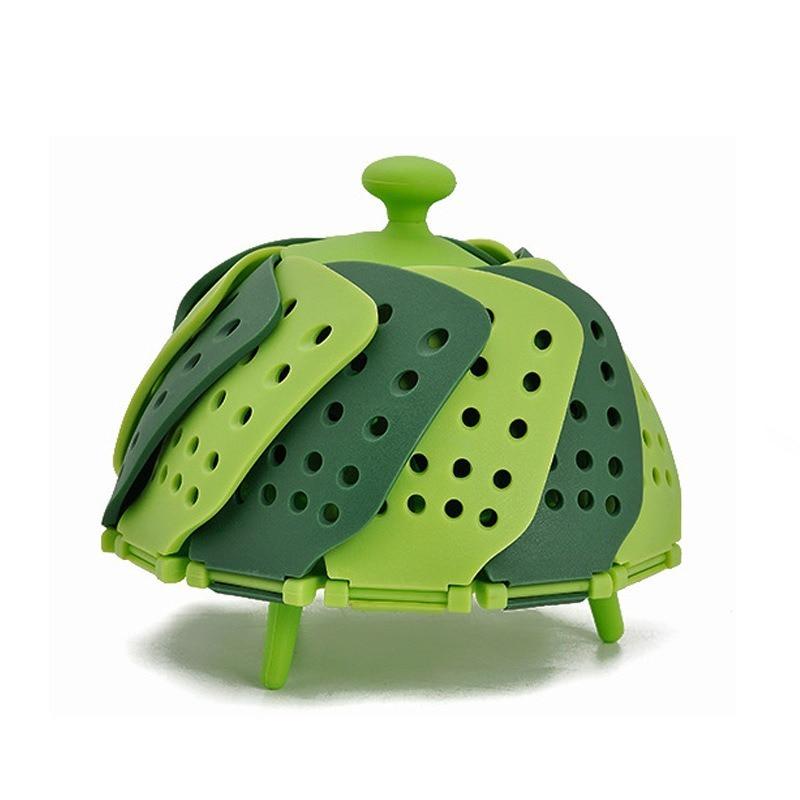 Household Food Grade Lazy Steamer Folding Plastic Lotus Steamer Vegetable Large Steamer Basket Multi Color Optional