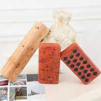 Simulation Brick/Wooden Plush Toy Soft Cotton Baby Brinquedos for Children Gift