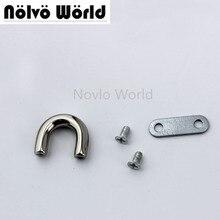 50pcs פנימי 1cm 3/8 אינץ 5 צבעים u טבעת, שקיות מתכת קולב סגסוגת u טבעות עבור תיקי מחבר גשר טבעת