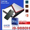 TOPTON Gaming Mini PC Core i9-9980HK i9 9880H i7 9750H Nvidia GTX 1650 4GB Spiel Desktop 2DDR4 64GB Windows10 4K DP HDMI AC WiFi