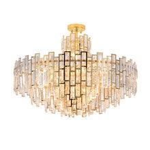 Atacado de luxo contemporâneo moderno decorativo raindrop k9 ouro cristal semi flush luz para sala estar lustre
