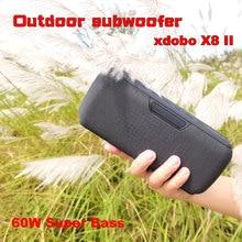 Alto-falantes Subwoofer externo Bluetooth sem fio portátil HiFi caixa de som com DJ X8II XDOBO 60W Water Audio IPX5 Proof Altifalante