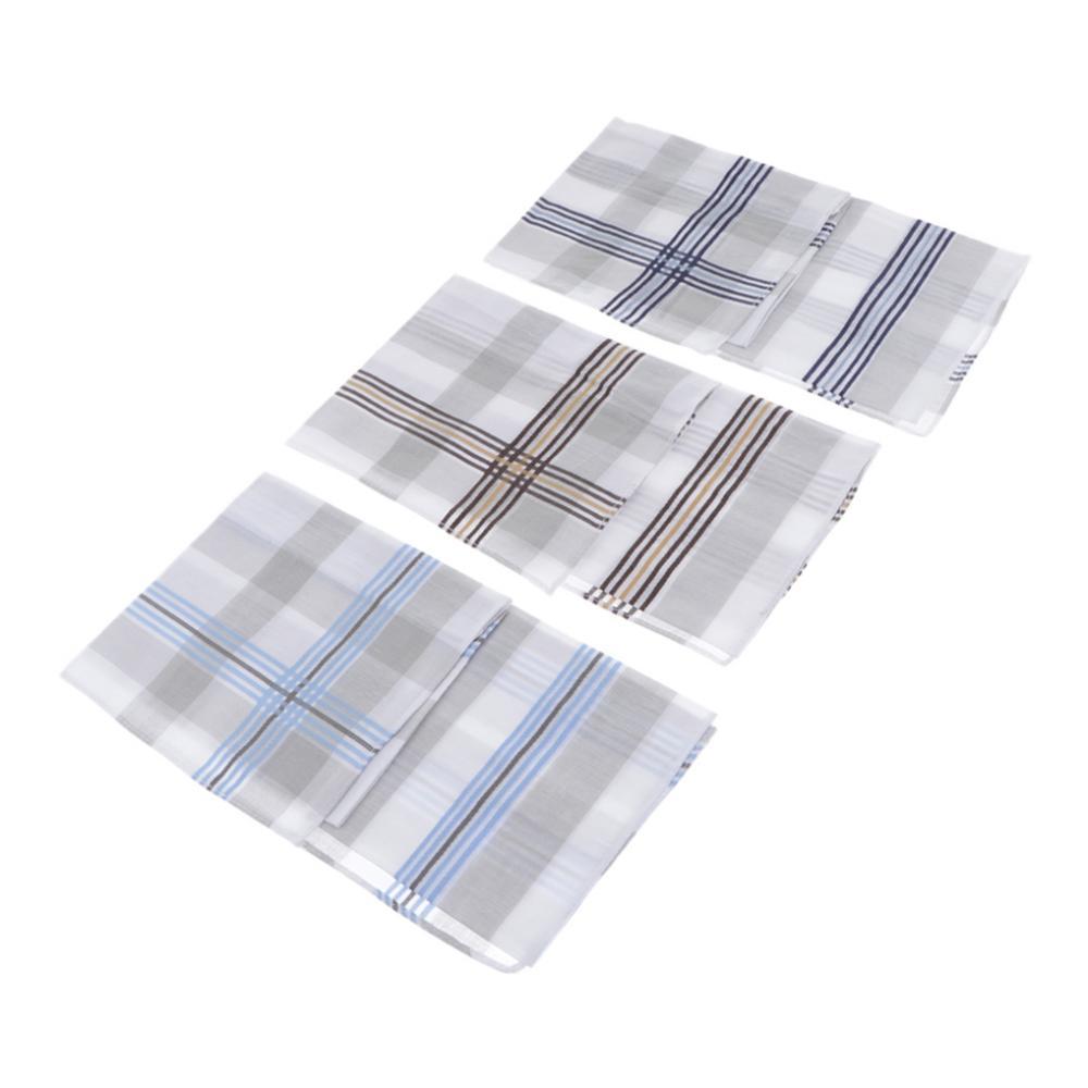 3Pcs Man Boy Cotton Handkerchiefs Mixed Plaid  Square Chest Towel  Hanky Vintage  Pocket Square Handy