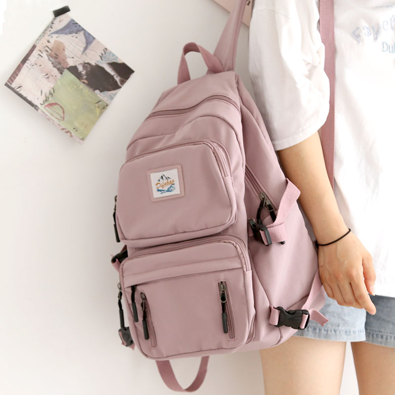 Tooling Style Backpack Canvas Women Backpack Anti-theft Shoulder Bag New School Bag for Teenager Girls 15.6 Inch Laptop Rucksack