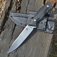 Cuchillo de hoja fija con mango DC53 G10, KYDEX con funda, cuchillos tácticos EDC, herramienta de defensa para acampada al aire libre y rescate de caza