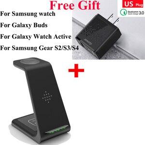 Image 5 - 3 In 1 Snelle Draadloze Oplader Voor Airpods Pro Iwatch 1 2 3 4 5 Iphone 11Pro Xs Max Xr voor Samsung Horloge Actieve/Knoppen/Gear S2 S3 S4