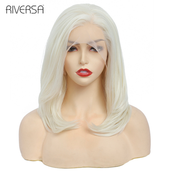 Riversa Hair 13x2 Lace Frontal Wig Cosplay Wigs for Black Women P 613 Blonde / White Wigs Straight Honey Blond Lace Front Wig image