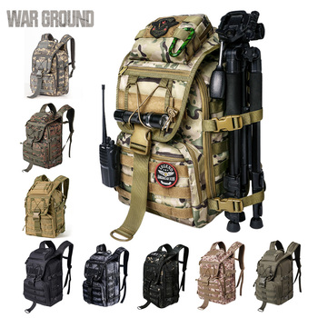 WAR GROUND Military Tactical 1000D Nylon 40L Backpack Mens Travel Bags Sports Camping Hiking Fishing Outdoor Camouflage Bags 1