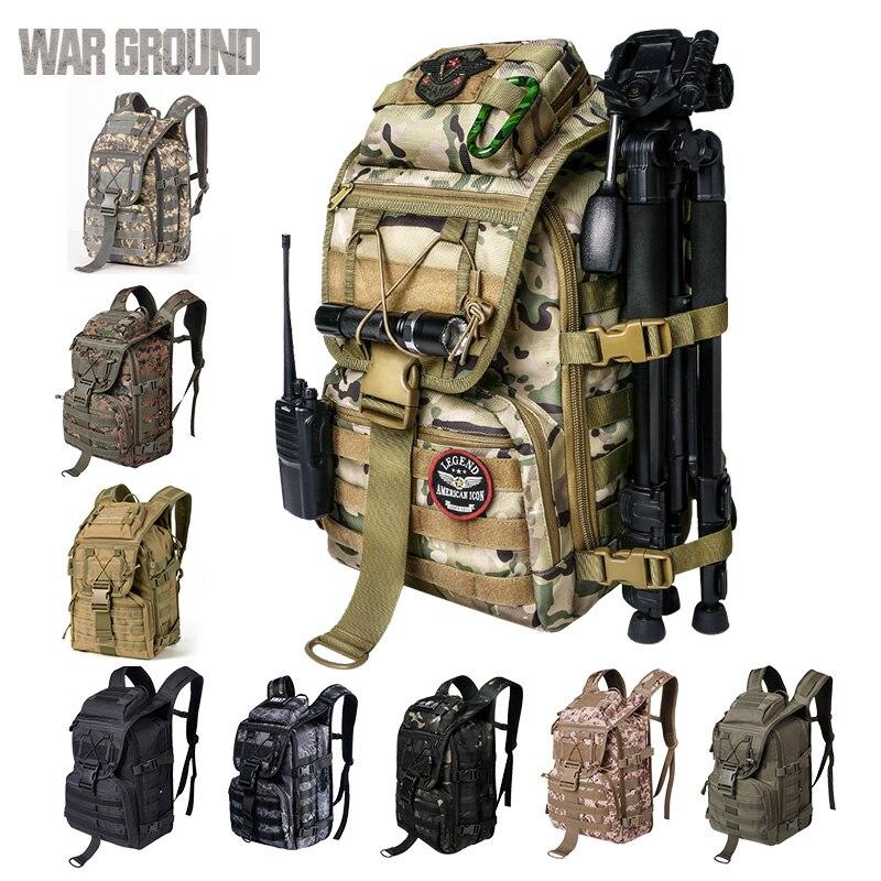 สงคราม GROUND 36L ยุทธวิธีกระเป๋าเป้สะพายหลัง Multi-Function hiking camping กระเป๋าเป้สะพายหลังกลางแจ้งกระเป๋าเป้ส...