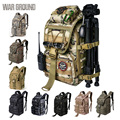 Campo de guerra 36l tático mochila multi-função caminhadas acampamento mochila ao ar livre saco de caça camuflagem saco militar