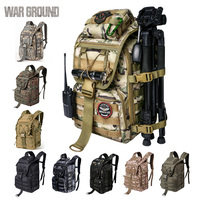 WAR GROUND Military Tactical 1000D Nylon 40L Backpack Mens Travel Bags Sports Camping Hiking Fishing Outdoor Camouflage Bags
