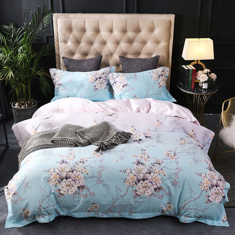 Your Moon Kit Tencel Four-piece Set Bedding Article Hemp Cotton Flax Blended Quilt Cover 1.51.8m Bed Double Bed