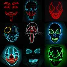 Novelty Lighting Mask LED Light up Mask Festival Cosplay Party Costume Mask EL Wire Neon Mask Christmas gift Party Supplies drama performance decor neon led strip prom mask luminous christmas cosplay light up el wire costume mask for festival party