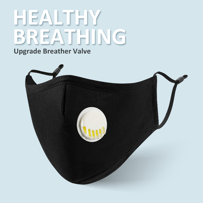 Anti Pollution PM2.5 Mouth Mask Dust Respirator Washable Reusable Masks Cotton Unisex Mouth Muffle FFP Mask Filter
