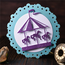 Cutting-Dies Windmill Stencil Scrapbooking Crafts Decorative Carousel Photo-Album Metal