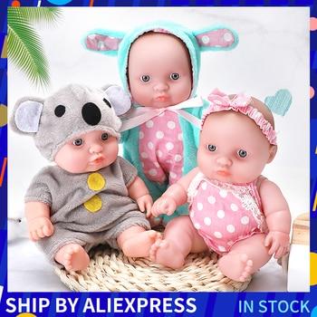 цена на 8 Inch Doll Reborn Toys Full Silicone Vinyl Lifelike Flexible Body Realistic Baby Dolls For Girls Kids Birthday Christmas Gift