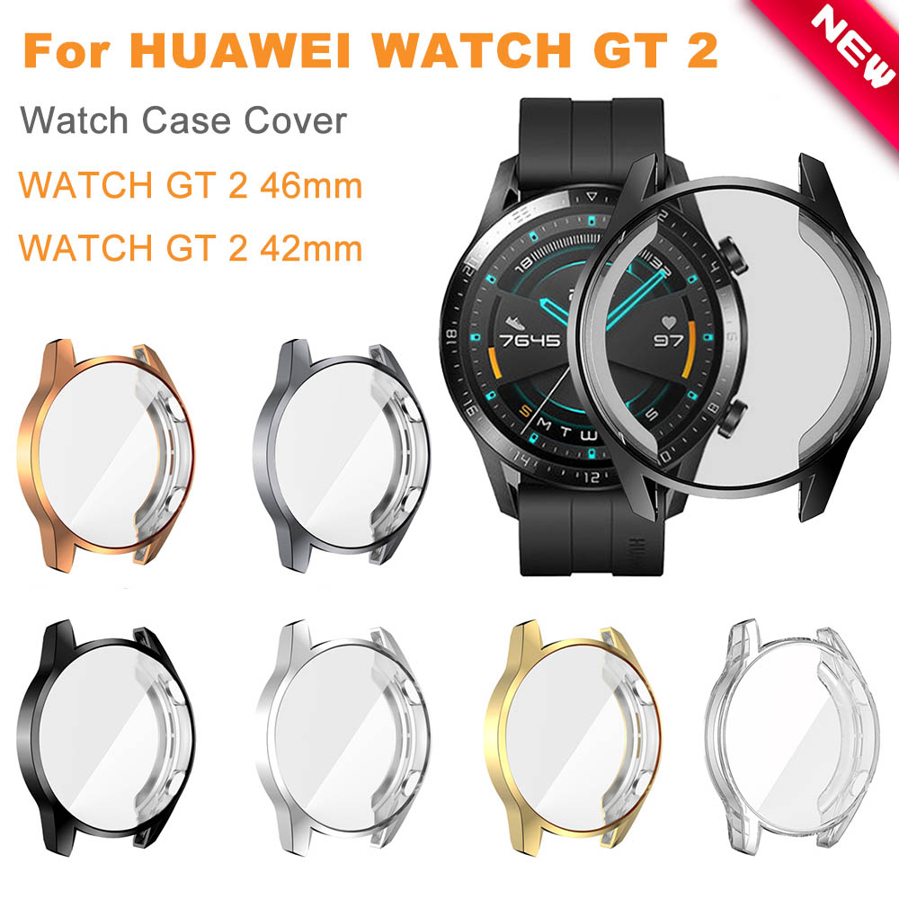 Protective Case For Huawei Watch GT 2 46mm Soft TPU Full Screen Protection Case HD Protector For Gt 2 Watch Cover Accessories