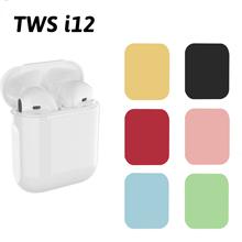 Inpods i12 TWS słuchawki Bluetooth sporty bezprzewodowe słuchawki douszne bezobsługowy zestaw słuchawkowy z etui z funkcją ładowania dla inteligentnego telefonu tanie tanio olevo Ucho NONE Dynamiczny CN (pochodzenie) Prawda bezprzewodowe Monitor Słuchawkowe Do Gier Wideo Dla Telefonu komórkowego