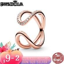 Новая мода 925 стерлингового серебра завернутый открытые марки