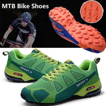 Tênis masculino para ciclismo, tênis masculino sem bloqueio, respirável, esportes, mountain bike, tamanhos grandes 39-48 1