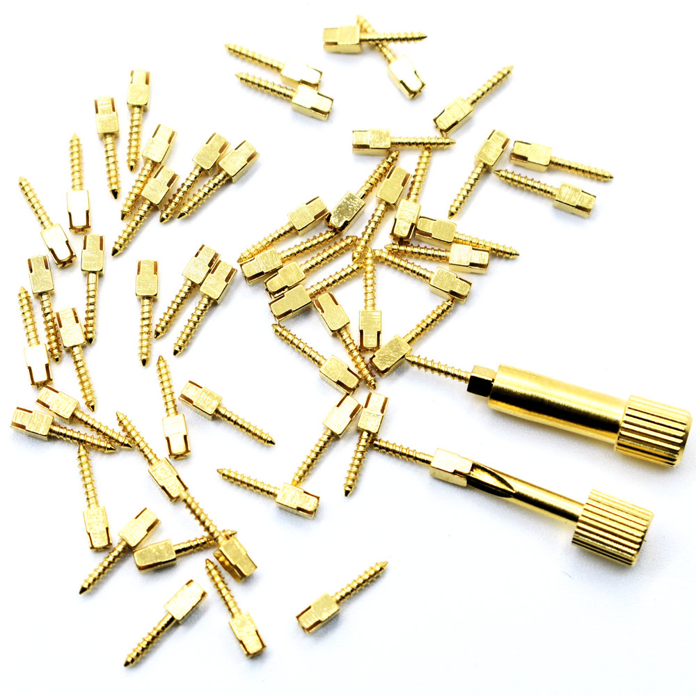 Dental Golden Plated Screw Post 50pcs Bag  Dental Materials For Dentist Tool Dentistry Use Post