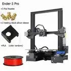 Venta 11 Creality DIY 3D impresora nueva moda Ender 3/3Pro/3X Con 3 boquillas/2PLA/silicona Economic Kits v slot Prusa I3