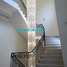 Nowoczesny luksusowy LED ołowiu kryształowy żyrandol duże wiszące światła lampy Cristal