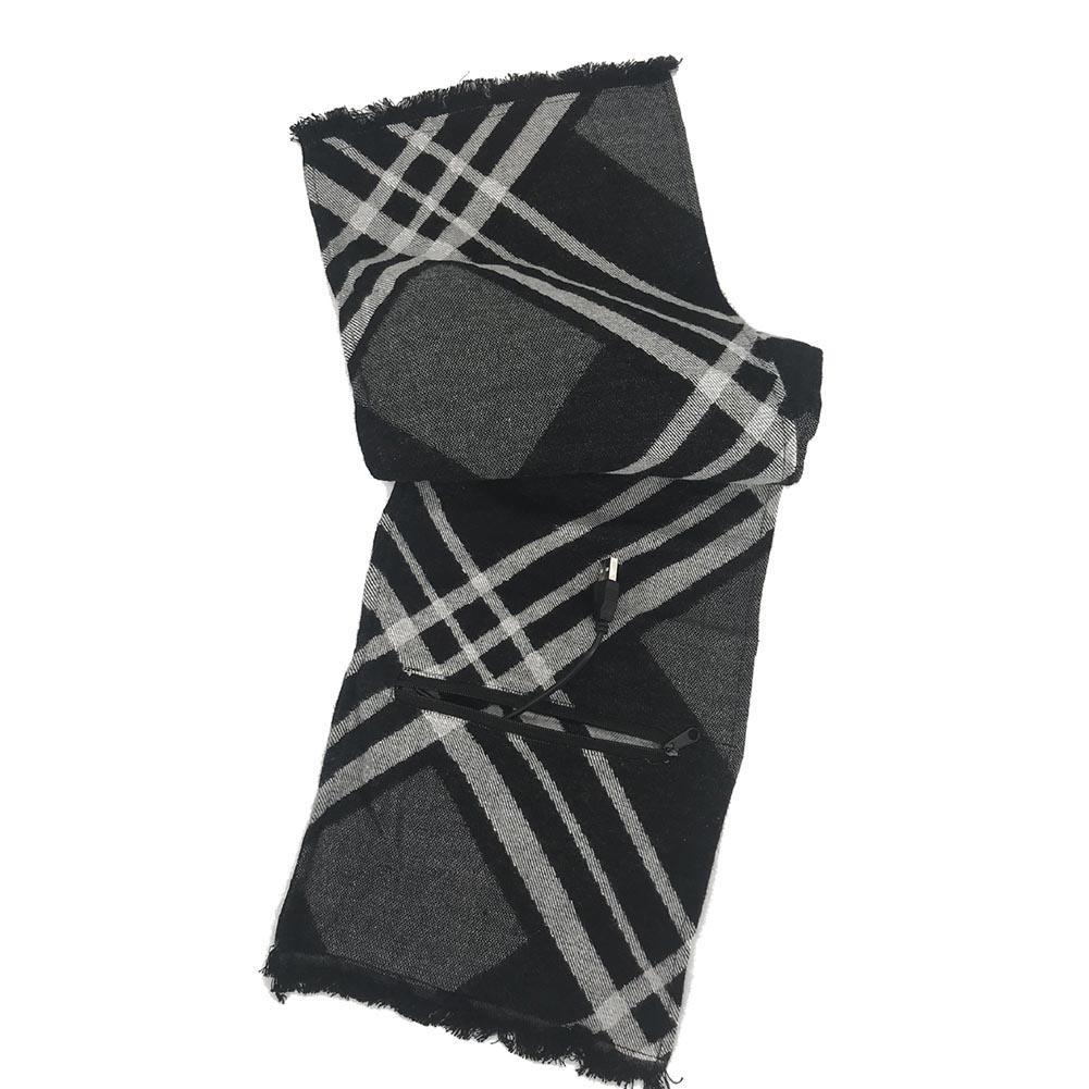 Кашемировый Usb Электрический шарф перезаряжаемый шарф с подогревом моющийся шарф теплый для шеи защитная одежда - Цвет: Зеленый