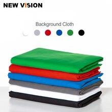 Черный белый зеленый синий красный цвет хлопок текстиль муслин фото фоны Студия фотография экран фон-хромакей ткань