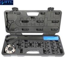 Timing Belt Change Tool Against Timing Pulley Holder Tool For VW Golf VAG 3036 T10172