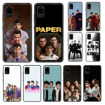 Jonas Brothers Rock Phone case For Samsung Galaxy S 3 4 5 6 7 8 9 10 E Plus Lite Edge black luxury bumper fashion Etui soft image