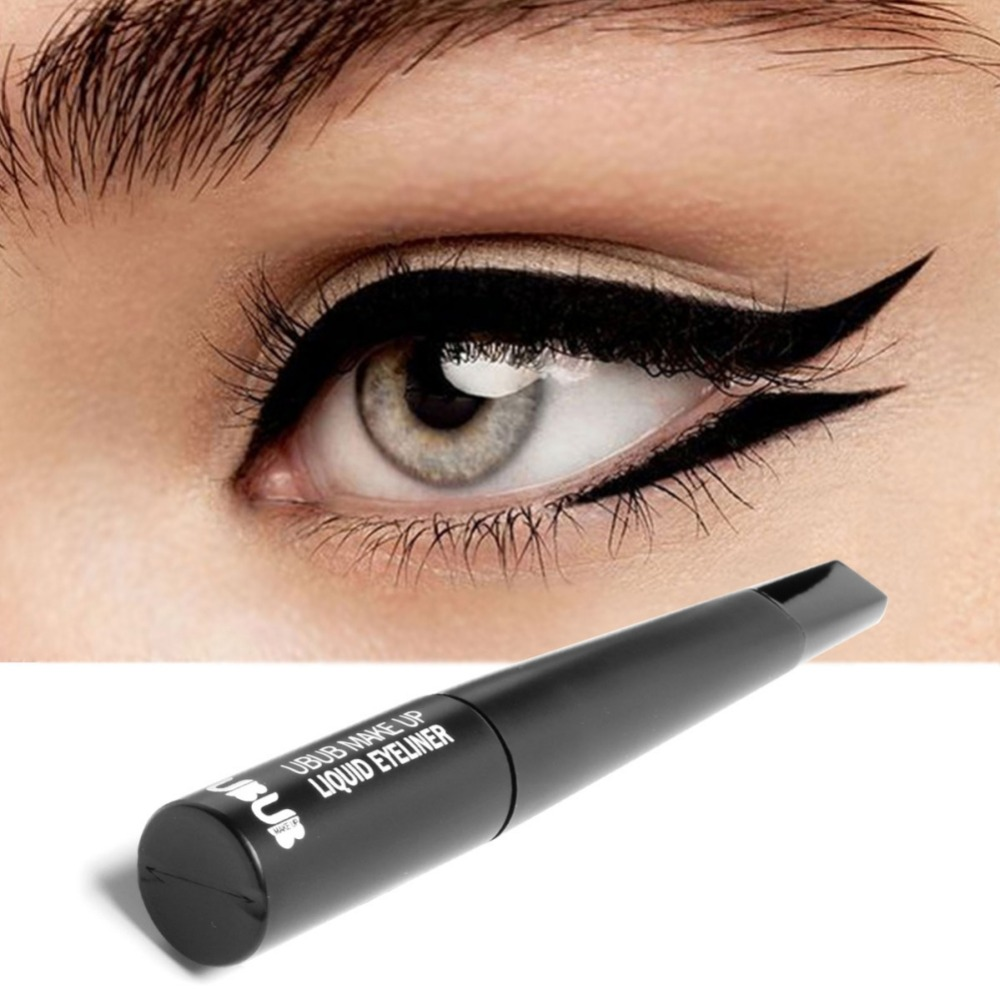 Liquid Eyeliner Smudge Proof Long Lasting Waterproof Quick-Drying Easy to Wear Felt Tip Black Liquid Eyeliner Pen image