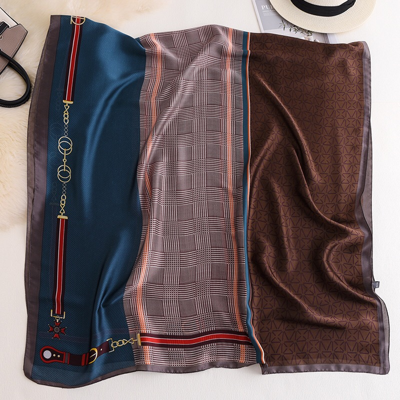 Luxury Brand Women Scarf Summer Silk Scarves Shawls Lady Wrap Soft Muffler Female Echarpe Designer Beach Stole Bandanna Foulard