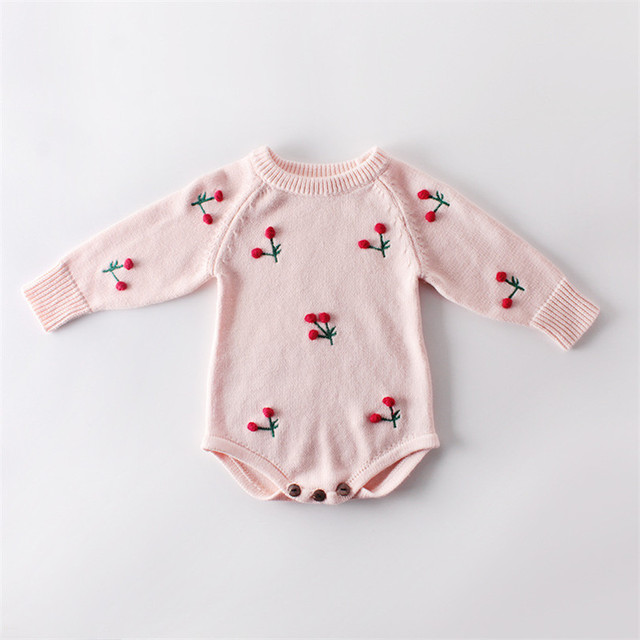 Knitted Baby Clothes Cotton...