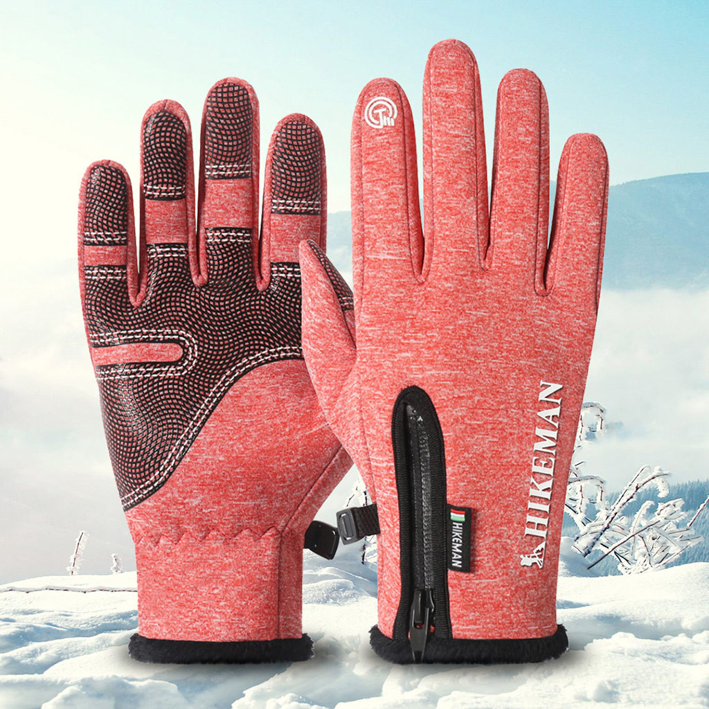 Warm Ski Gloves  Outdoor Riding Sports All-in-one Silicone Non-slip Snowboard Gloves Handschoenen Ski