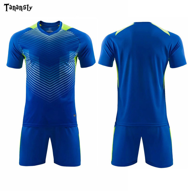 New Football Set Customize Name and Number Men Adult Football Jersey Shorts Training Running Soccer Kit Football Uniforms 2020