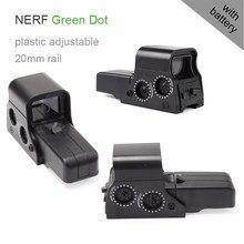 Alvo vista ponto verde ponteiro de água ponto vista para nerf série blasters brinquedo melhorar precisão arma acessórios caça acessórios