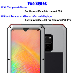 Image 2 - כבד החובה הגנה אבדון שריון מתכת אלומיניום מקרה טלפון עבור Huawei Mate 20 פרו P30 פרו מקרים עמיד הלם Dustproof כיסוי