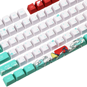 Image 2 - 108 Key Japan Japanese root font Keycaps Dye Sublimation PBT OEM Coral Sea keycap For Ikbc Cherry MX Annie Mechanical Keyboard