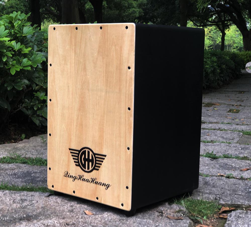 Instrument de Persussion de tambour de boîte en bois de tambour de main de Cajon de haute qualité avec des pieds en caoutchouc de piqûres 35*31*47cm - 3